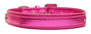 "3/4"" (18mm) Metallic Two-Tier Collar  Pink Large - Baby Buggy Outlet LLC"