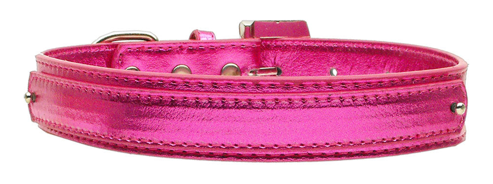 "3/4"" (18mm) Metallic Two-Tier Collar  Pink Medium - Baby Buggy Outlet LLC"