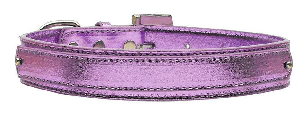 "3/4"" (18mm) Metallic Two-Tier Collar  Purple Large - Baby Buggy Outlet LLC"