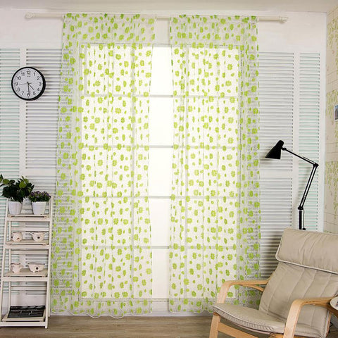 Flower Voile Curtain 5 Colors - Baby Buggy Outlet LLC