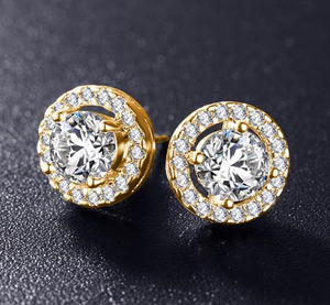 Cubic Zirconia Stud Earrings - 3 Design Types - Baby Buggy Outlet LLC