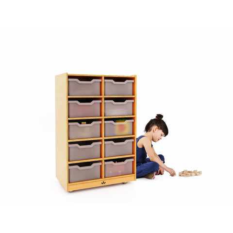 10 Cubby Mobile Tray Storage Cabinet - Baby Buggy Outlet LLC