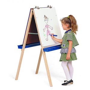 Adj. Easel With Write/Wipe Boards - Baby Buggy Outlet LLC