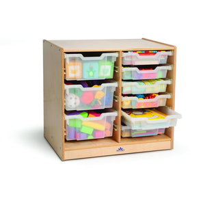 Clear Tray Double Storage Cabinet - Baby Buggy Outlet LLC