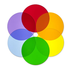 Color Wheel Circles - Set Of 6 - Baby Buggy Outlet LLC