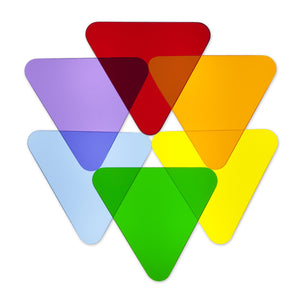 Color Wheel Triangles - Set Of 6