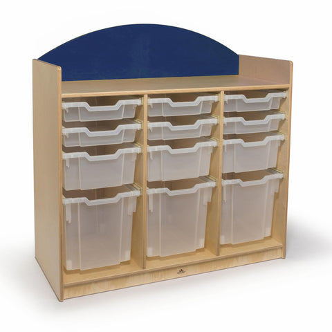 Rainbow Tray Storage Cabinet- Blue