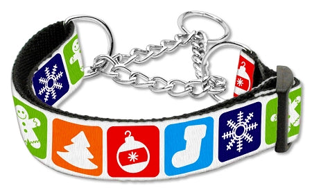 Classic Christmas Nylon Ribbon Collar Martingale Large - Baby Buggy Outlet LLC