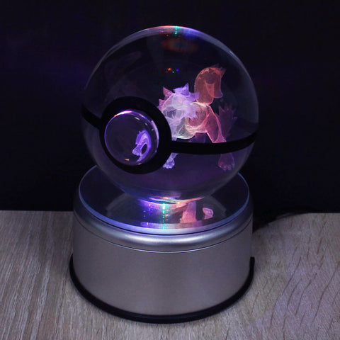 Pokemon 3D LED Spinning CRYSTAL BALL
