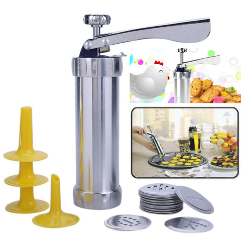 20 Piece Professional Pastry Gun! Perfect For Decorating Cakes Or Shaping Cookies!