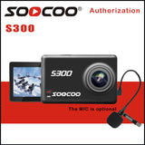 "4K Best Sport Camera SOOCOO S300/ 30FPS 2.35"" Touchscreen/ WIFI/ External Mic GPS"