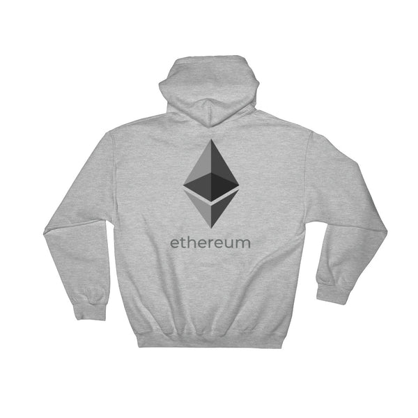 Ethereum Logo With Back Text Pullover Hoodie