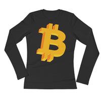Bitcoin Geometric Logo Original Women's Long Sleeve T-Shirt