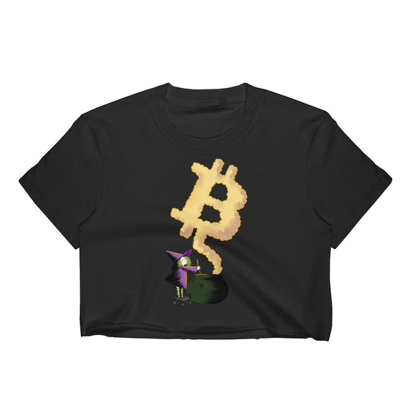 Bitcoin Witch Original Women's Crop Top
