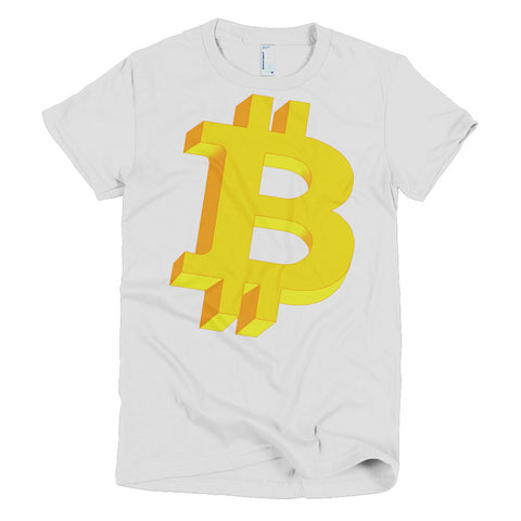 Bitcoin Geometric Logo Original Women's T-Shirt