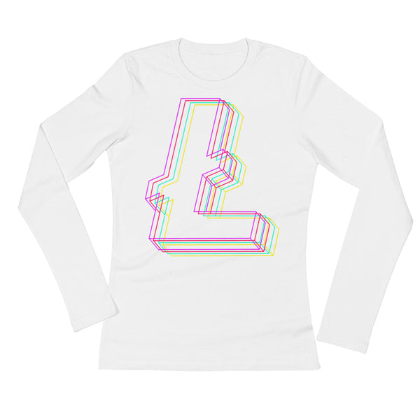 Litecoin Hologo Original Women's Long Sleeve T-Shirt