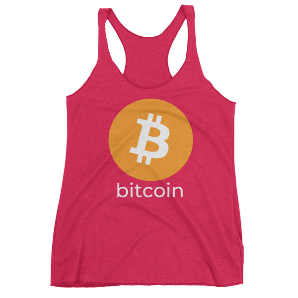 Bitcoin Logo with Text Women's Racerback Tank