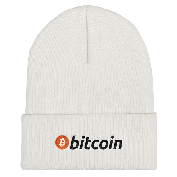 Bitcoin Logo with Text Hat