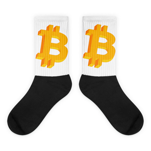 Bitcoin Geometric Logo Original Socks