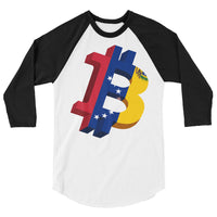 Bitcoin Venezuela Original 3/4 Baseball T-Shirt