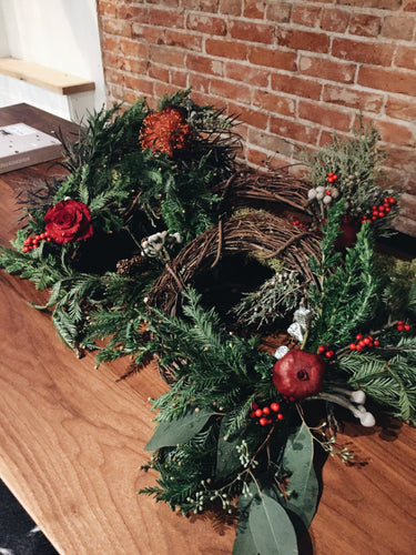 Holiday Wreath Workshop, 2!