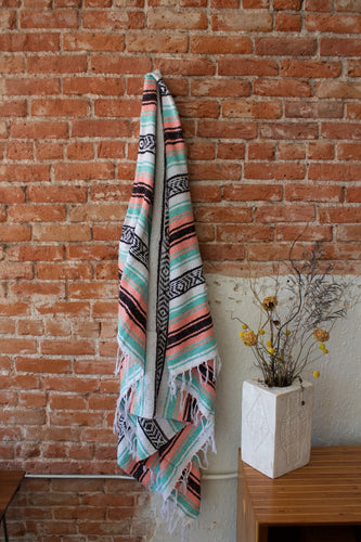 Tribe and True Mint & Melon Falsa Blanket