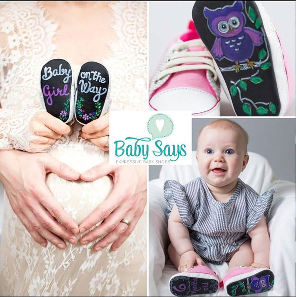 Footwear News Included Baby Says Chalkboard Shoes as one of the 21 Coolest Things to Happen in the Kids' Shoe Market This Year (So Far)