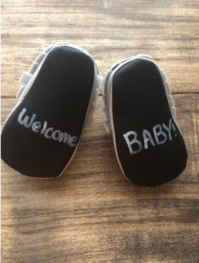 Baby Says Chalkboard Shoes Reviewed by Little Helpers in Life Blog!