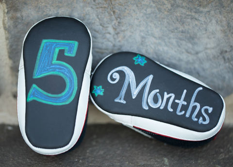 5 months baby shoes chalkboard shoes