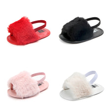 Furry Baby Slippers - Baby Says