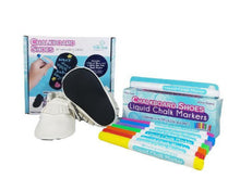 White Moccasins and 8-pack Marker Set