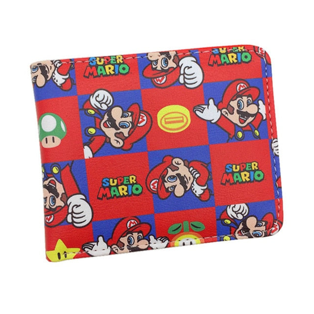 Super Mario World Wallet Cartoon Comics Game Holder
