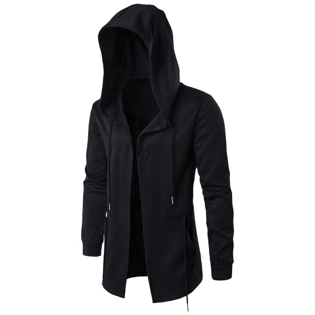 Fashion Men Hooded Sweatshirts Hoodies Jacket Long Sleeve Cloak Male