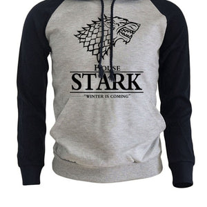 Raglan Hoodies For Men House Stark The Song of Ice and Fire Winter Is Coming