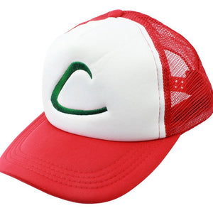 Unisex-Adult Baseball Cap Pokemon Trainer Hat Cosplay Costume Adjustable Mesh Cap Snapback Hat