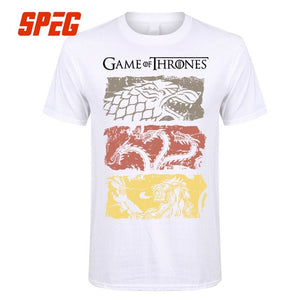 Game Of Thrones Vintage Tees Men T Shirt TV Series 100% Cotton