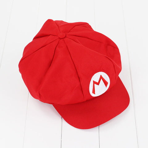 Super Mario Bros Caps Cotton hat Mario Luigi Cosplay Buckle Hats children Adult Hats Cap plush toys
