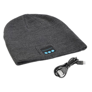 Men Smart Wireless Bluetooth Music Warm Knitted Beanie Hat Headphones Cap