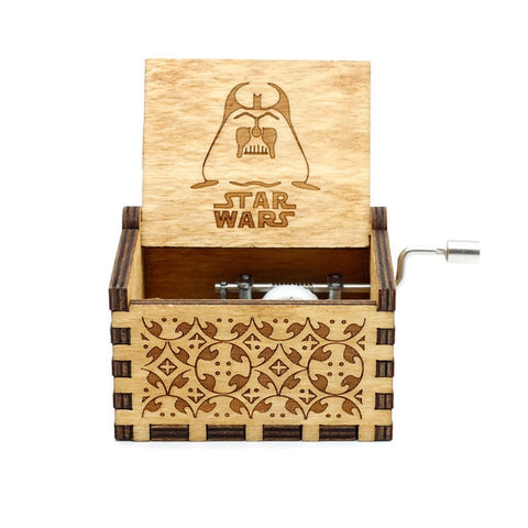 Wooden Hand Cranked Music Box Beauty And The Beast Star Wars