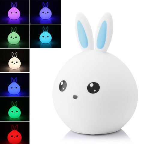 Rabbit LED Night Light Warm Whoite + RGB Tap Control Rechargeable