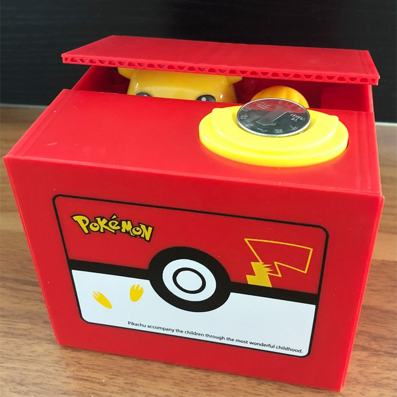 Brand New Pokemon Pikachu Electronic Plastic Money Box Steal Coin