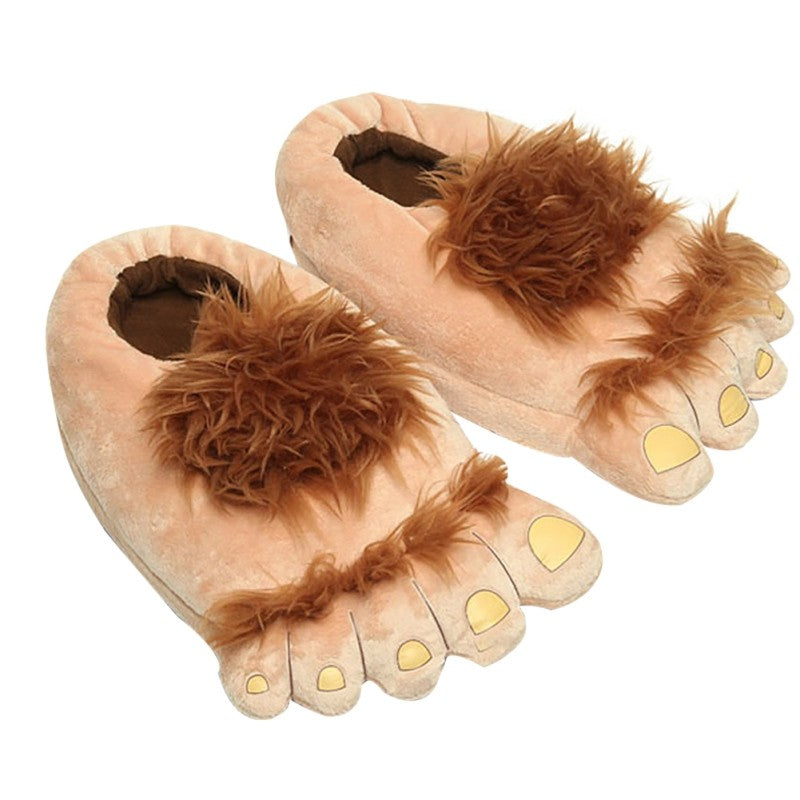 Warm Slippers Fashion Big Hairy Unisex Savage Monster Hobbit Feet
