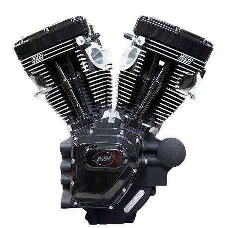 T124 S&S Black Edition Long Block 06-17 Dyna