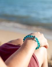 The Leland Blue | Peacock Blue Recycled Glass - Homes Bracelets