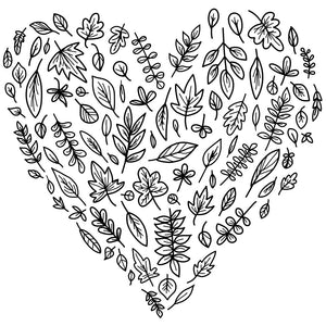 leaf heart design