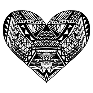 Patterned Heart design