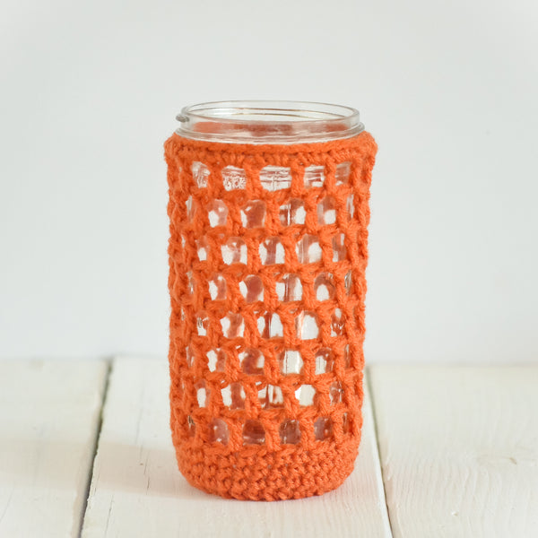 nautical-drink-cozy-crochet-mason-jar-cover-pumpkin