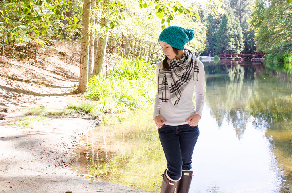 sailor-pom-beanie-plaid-blanket-scarf