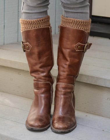 boot sock toppers rustic brown rachel allison shop