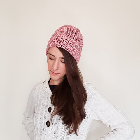 camp beanie - dusty rose - rallisonshop